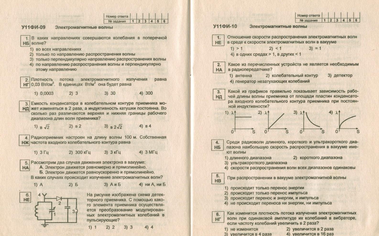 Контрольная работа по физике 11 класс мякишев